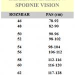 Tabelka spodnie Vision