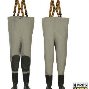 Spodniobuty Wodery z Wzmocnieniami PROS SBP 40-46 Wzmocnienia na kolanach Wytrzymałe
