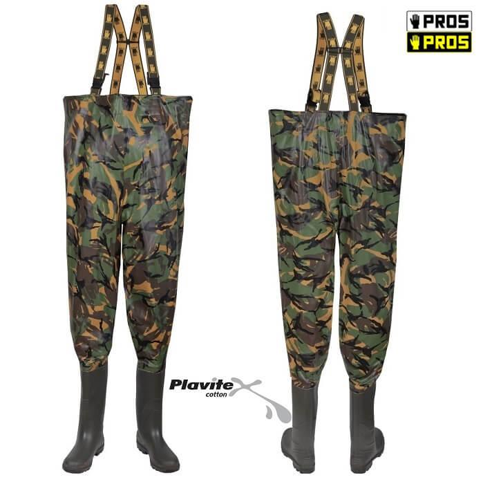 Pros SB01/Cam Spodniobuty Moro Kamuflaż Wędkarskie 39-47 Idealny kamuflaż