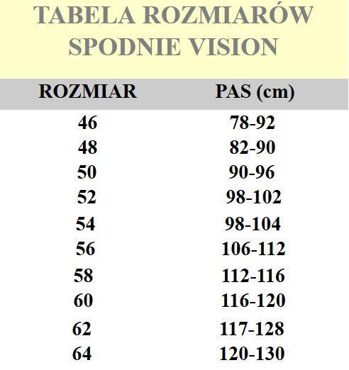 tabelka spodnie blie