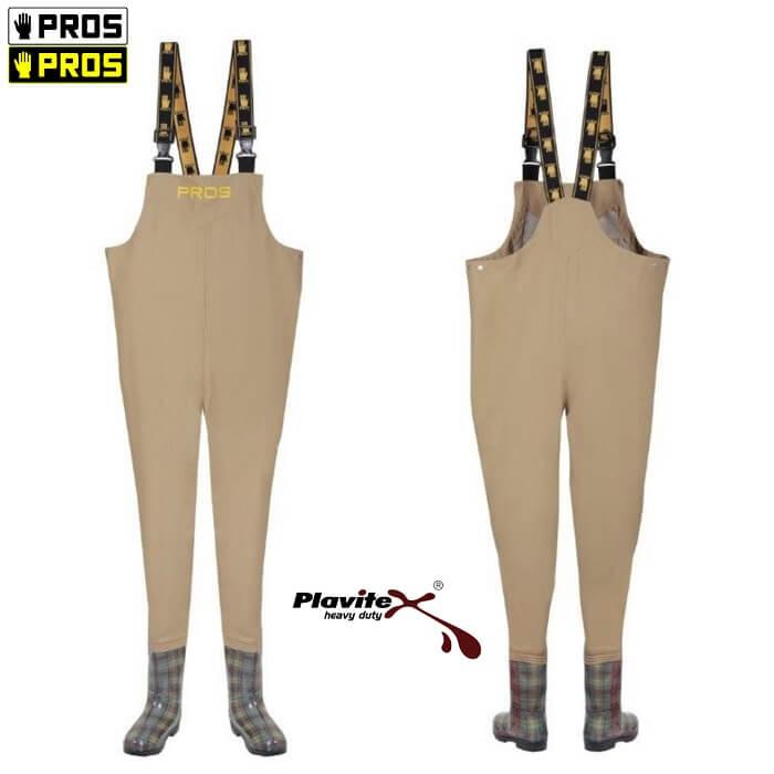 Spodniobuty Wodery Damskie SB01-D Beżowe PROS 36-40 Krata