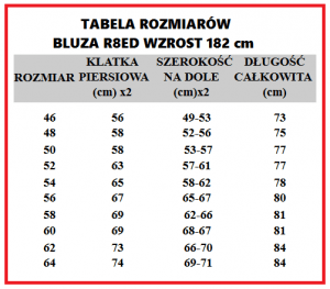 Bluza r8ed+ 46-64