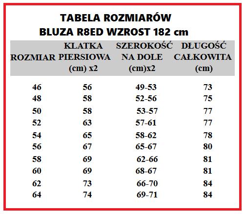 tabelka bluza r8ed