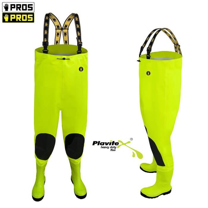 Pros SBM01 FLUO Wytrzymałe Spodniobuty Max S5 Żółte 39-47 Odblaskowe Wytrzymałe