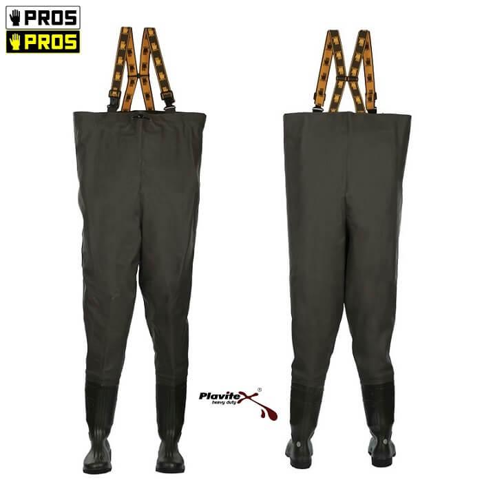 Pros SBM S5 Spodniobuty Ochronne z Wkładką Antyprzebiciową 39-48 wzmocnione na kolanach