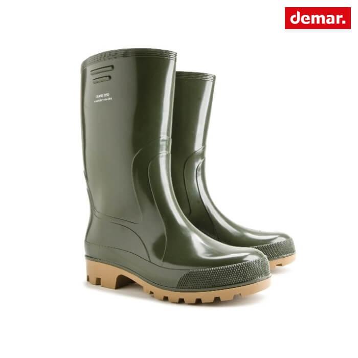 Demar Grand Kalosze Gumiaki Męskie Zielone PVC 41-47