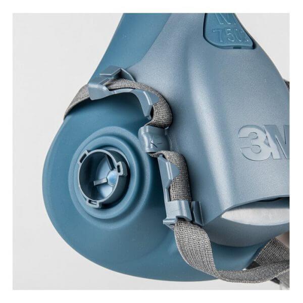 3M Maska Półmaska 7502 Lakiernicza Ochronna Wielokrotnego Użytku Silikonowa M