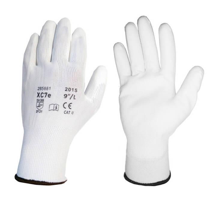 XC7E Rękawice Rękawiczki Kat II Robocze Ochronne Poliuretanowe 240Par 6-11