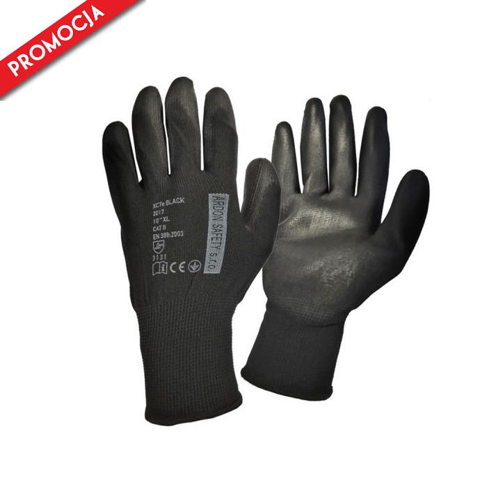 XC7E Rękawice Rękawiczki KatII Robocze Ochronne Poliuretanowe 240 Par r6-11