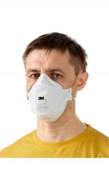 Maska Półmaska 3M 9332+Przeciwpyłowa Filtrująca 3M™ Aura™+ z Zaworem Pył Kurz FFP3