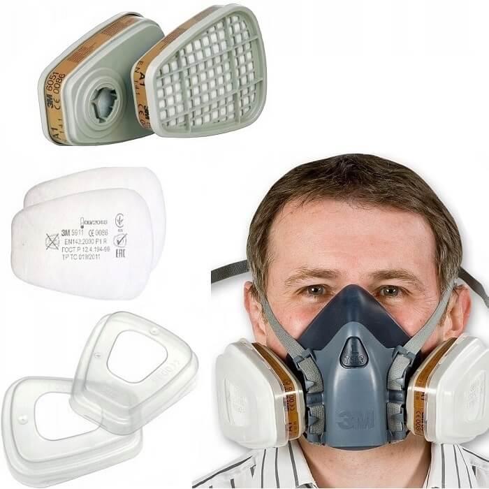 cf2255b3de2f3d Ochrona dróg oddechowych, Półmaski przeciwgazowe, Półmaski przeciwpyłowe