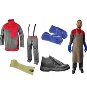 Kompletny Zestaw Dla Spawacza Komplet, Ubranie, Fartuch, Buty, Rękawice