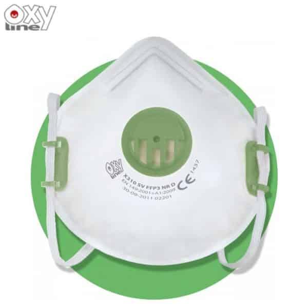 Maseczka Ochronna Maska P3 OxyLine X310V R D FFP3 Wielorazowa Przeciwpyłowa