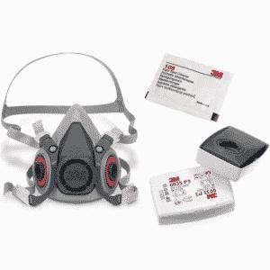 Półmaska 3M 6300 z Filtrami 6035 P3 Maska Lakiernicza Przeciwpyłowa+Ściereczka